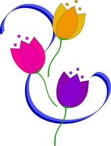 Tulip clipart pretty flower #1