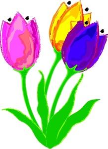 Tulip clipart purple tulip #7
