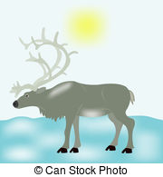 Tundra clipart Reindeer Reindeer tundra Graphics snow