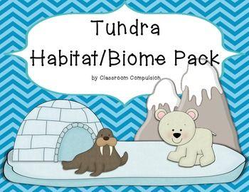 Tundra clipart arctic habitat #5