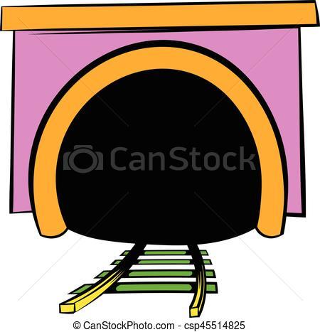 Tunel clipart cartoon Cartoon cartoon icon of Illustration