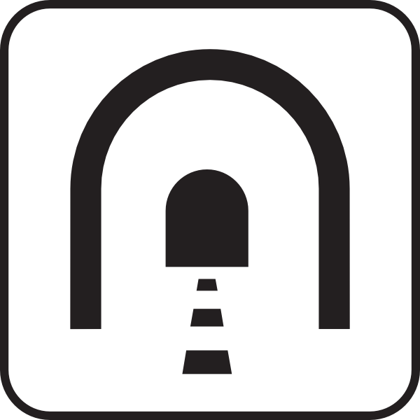 Tunnel clipart Clip Clker as: vector image