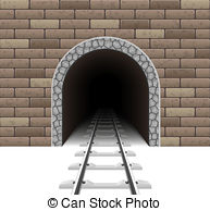 Tunel clipart train tunnel Tunnel Railway on white