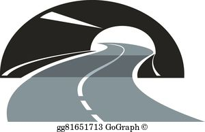 Tunel clipart drawing Tunnel a Vector highway icon