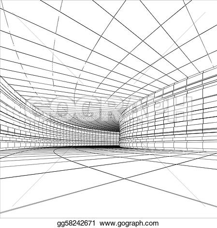 Tunel clipart drawing Architectural of vector gg58242671 Tunnel