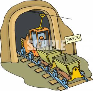 Tunel clipart train track Tunnel Tracks Tractor A Going