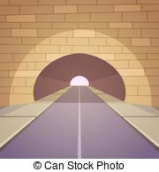 Tunnel clipart underpass Road with Art Tunnel Vector