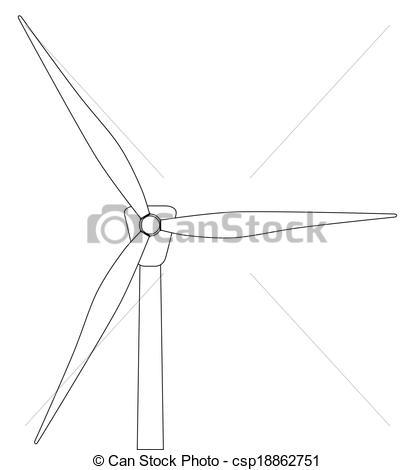 Turbine clipart black and white Vector a Turbine Turbine