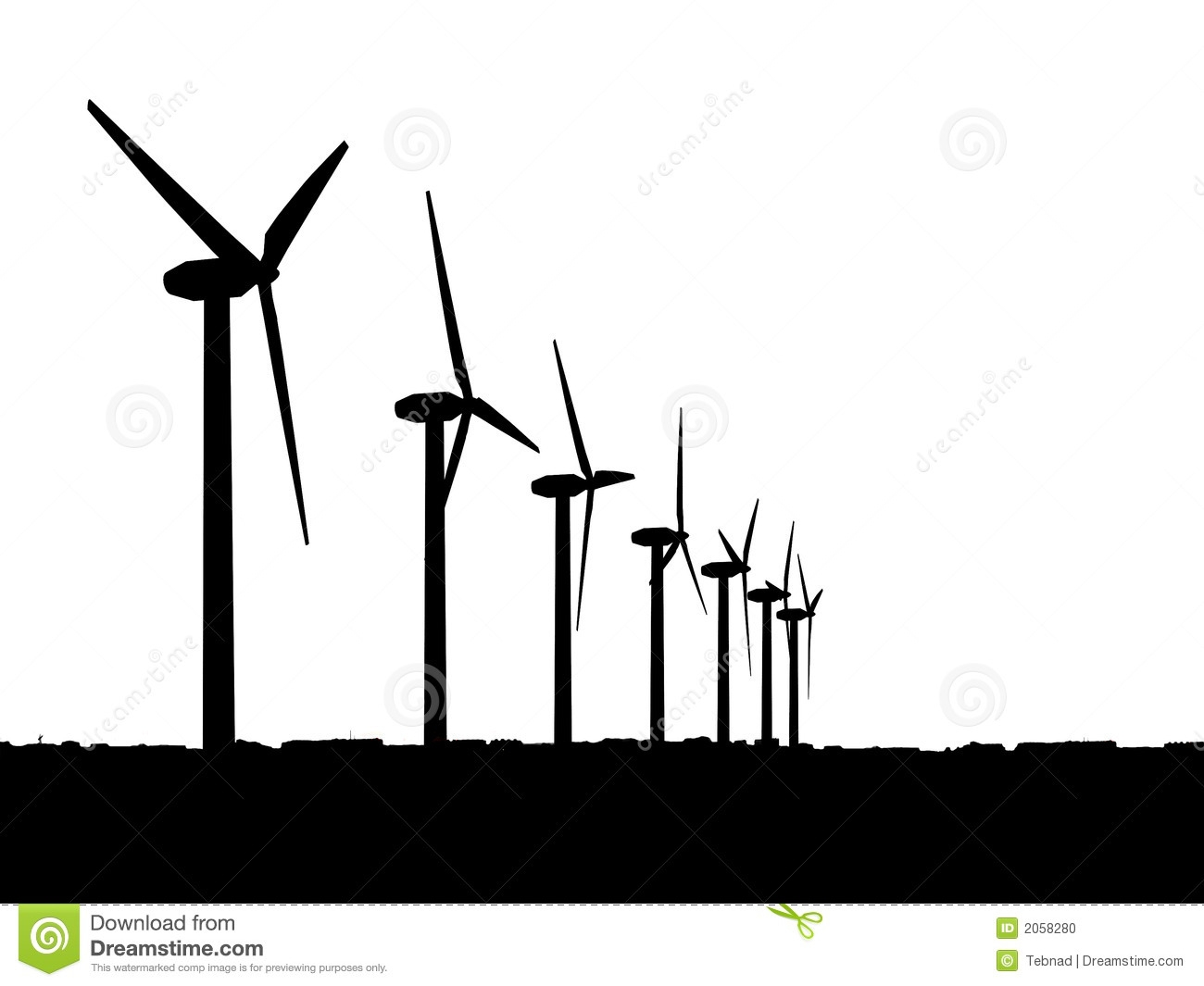 Turbine clipart black and white Background Clipart wind Wind No