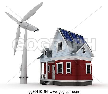 Turbine clipart wind turbine Stock panels with turbine gg80410154