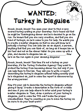 Turkey clipart disguised #12