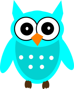 Owl clipart shabby chic Clip art vector Turquoise clip
