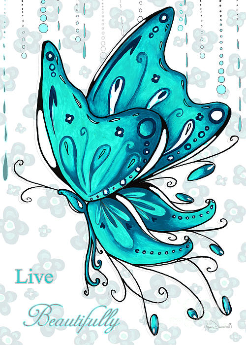 Turquoise clipart beautiful butterfly #12