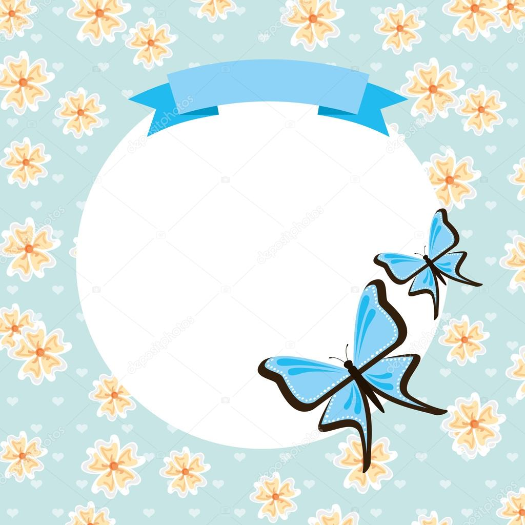 Turquoise clipart beautiful butterfly #15