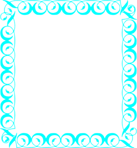 Turquoise clipart border #3