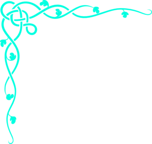 Turquoise clipart border #5