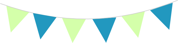 Bunting clipart teal Art clip  Teal as: