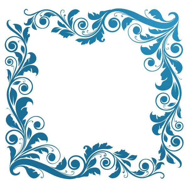 Turquoise clipart corner #14