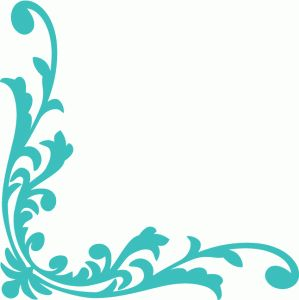 Turquoise clipart corner #10