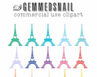 Eiffel Tower clipart simple Paris Etsy french clipart art