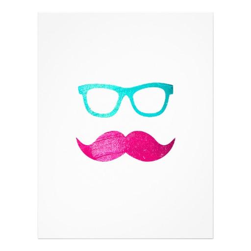 Neon clipart mustache #1