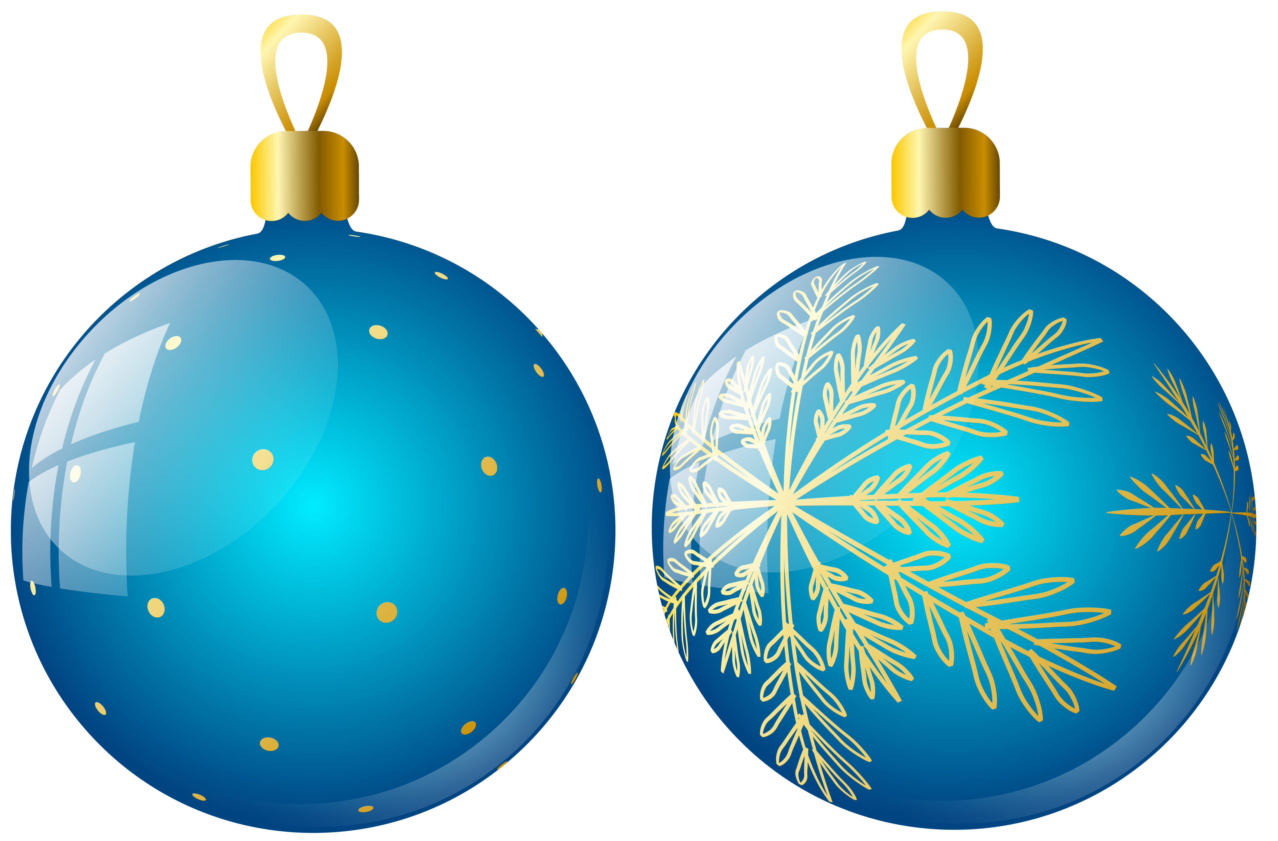 Holydays clipart blue Balls Two Ornaments Clipart