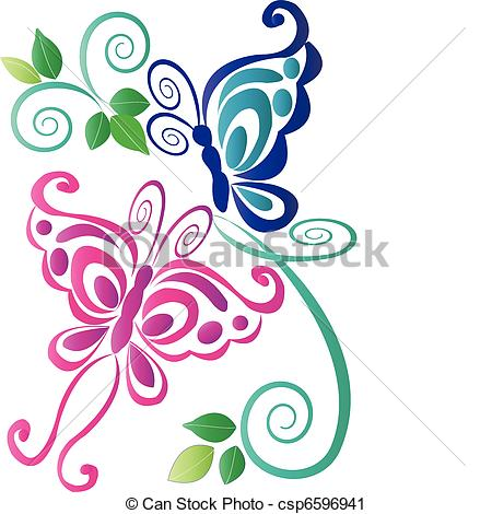Artwork clipart colorful Illustrations Butterfly pink with
