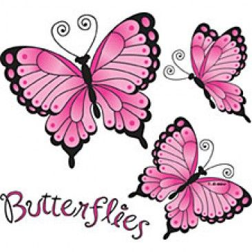 Pink Rose clipart pink black butterfly Pinterest ROSES images 129 best