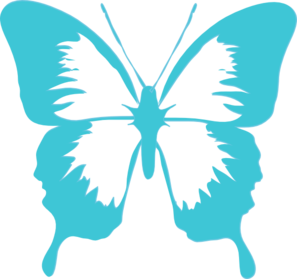 Turquoise clipart purple butterfly #10