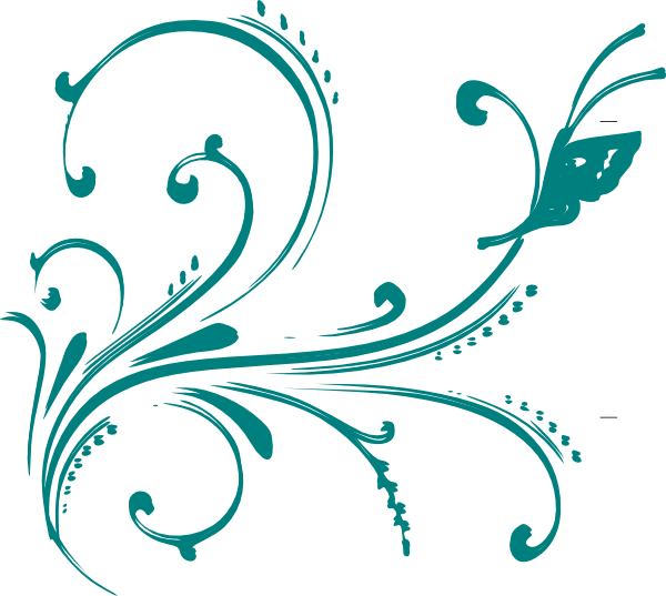 Turquoise clipart purple butterfly #7
