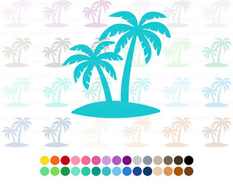 Turquoise clipart tree #7