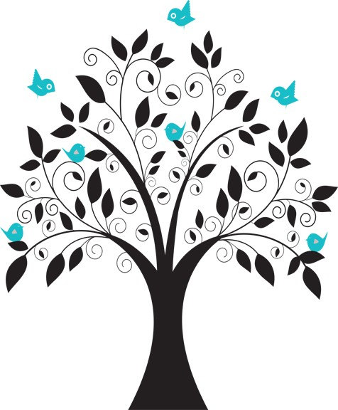 Turquoise clipart tree #5