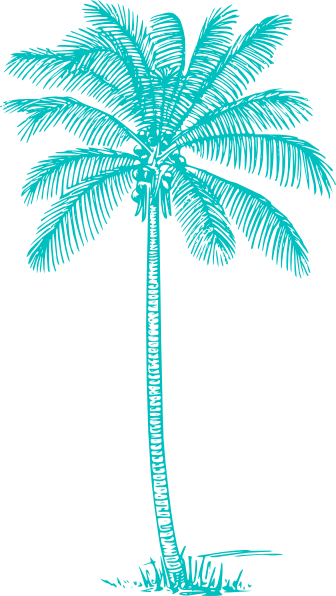 Turquoise clipart tree #4