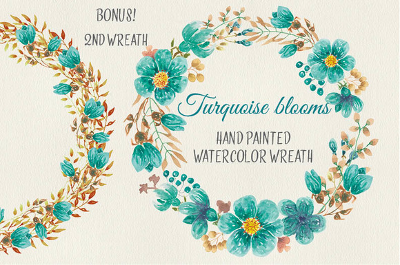 Turquoise clipart turquoise flower #13