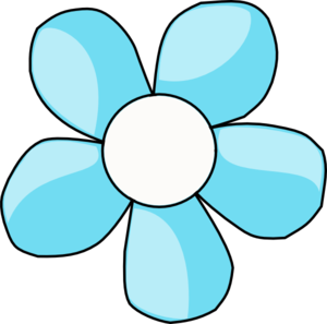 Turquoise clipart turquoise flower #4