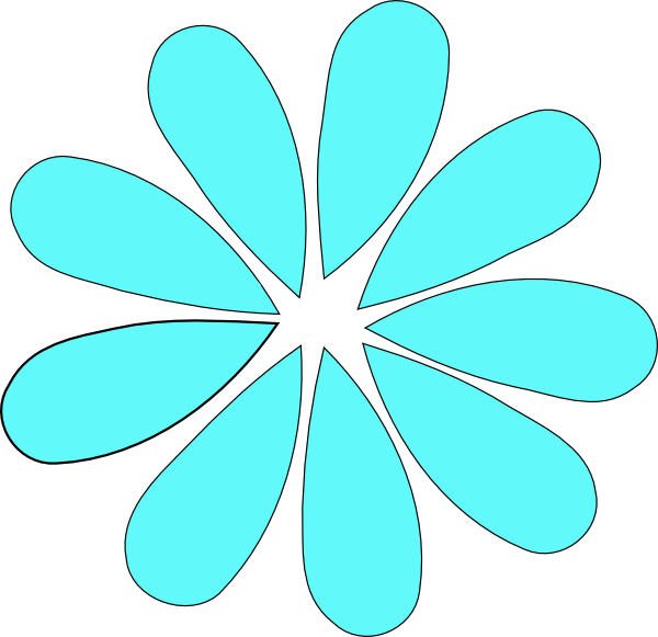 Turquoise clipart turquoise flower #7