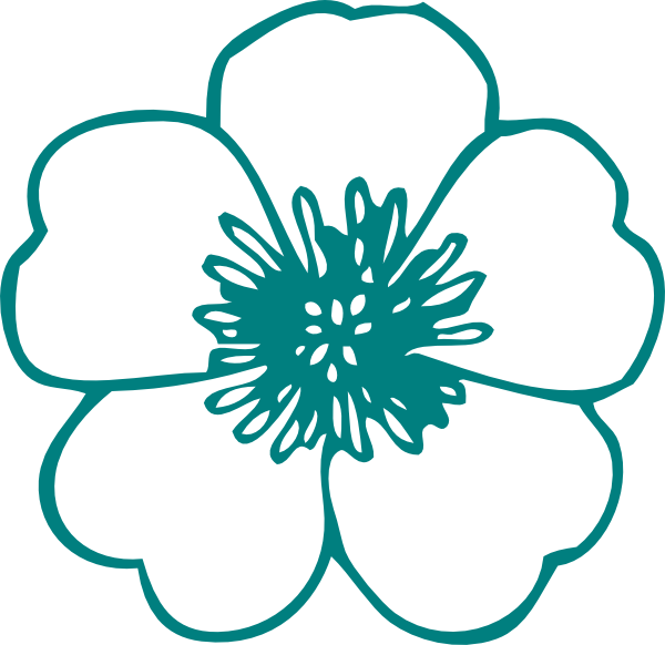 Turquoise clipart turquoise flower #6