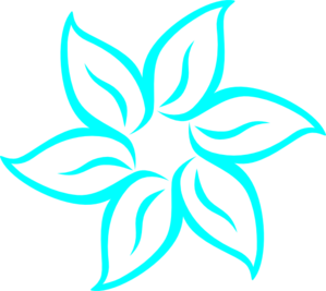 Turquoise clipart turquoise flower #8