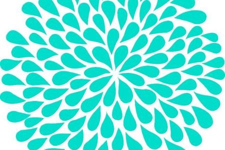 Turquoise clipart turquoise flower #10