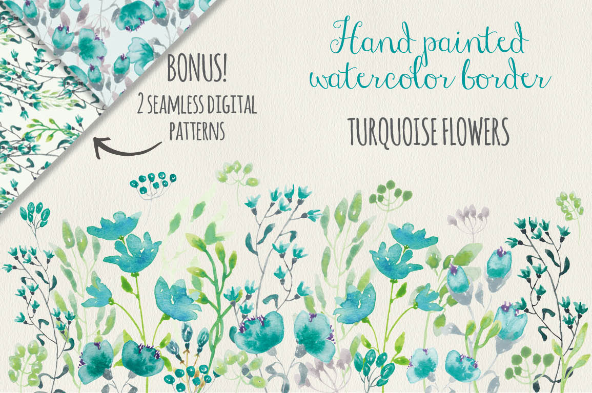 Turquoise clipart turquoise flower #12