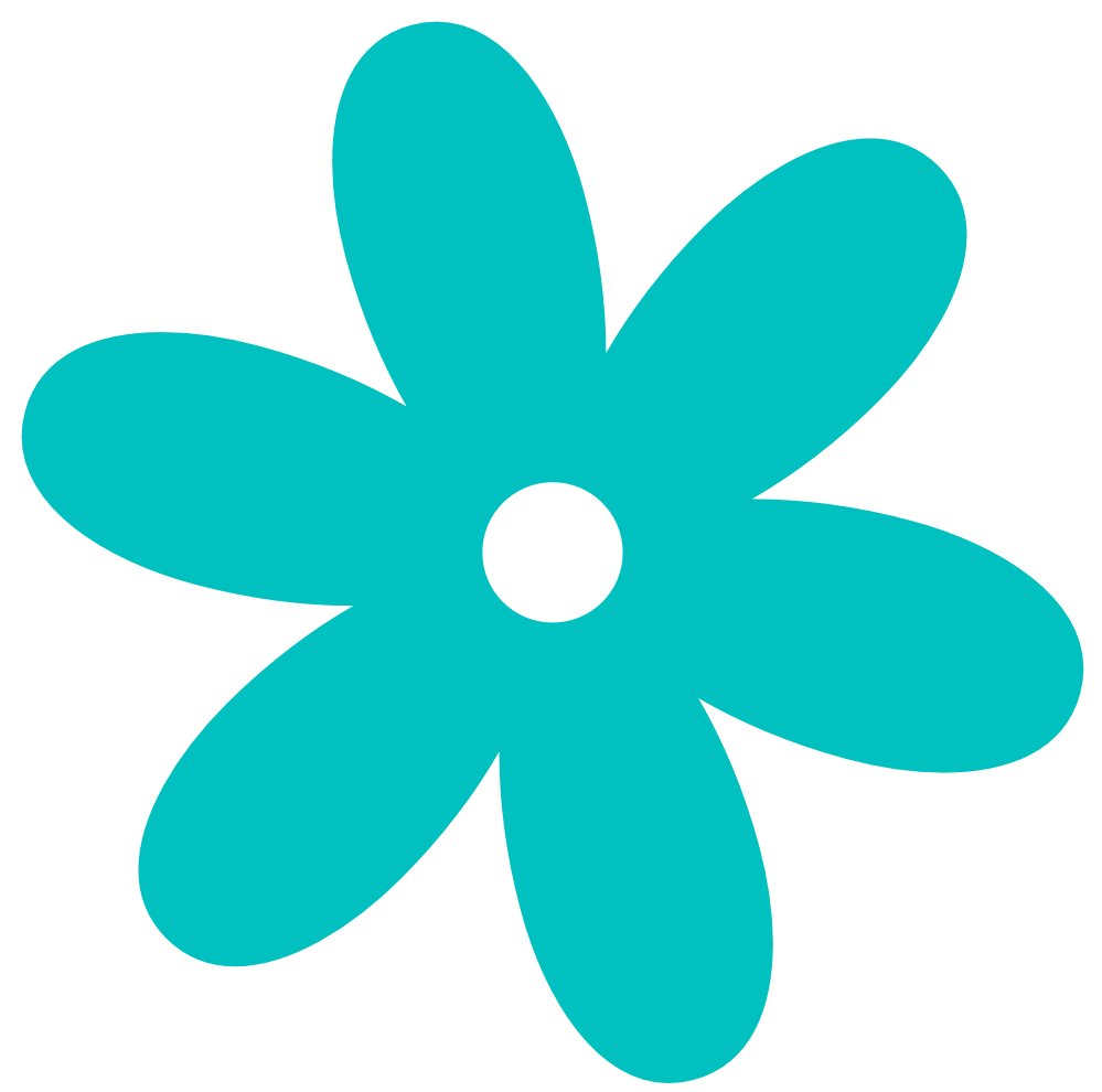 Turquoise clipart turquoise flower #3