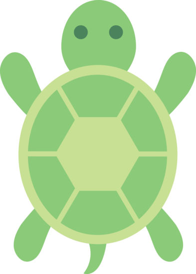 Simple clipart turtle #4