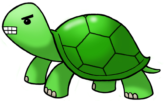 Turtle clipart angry #3