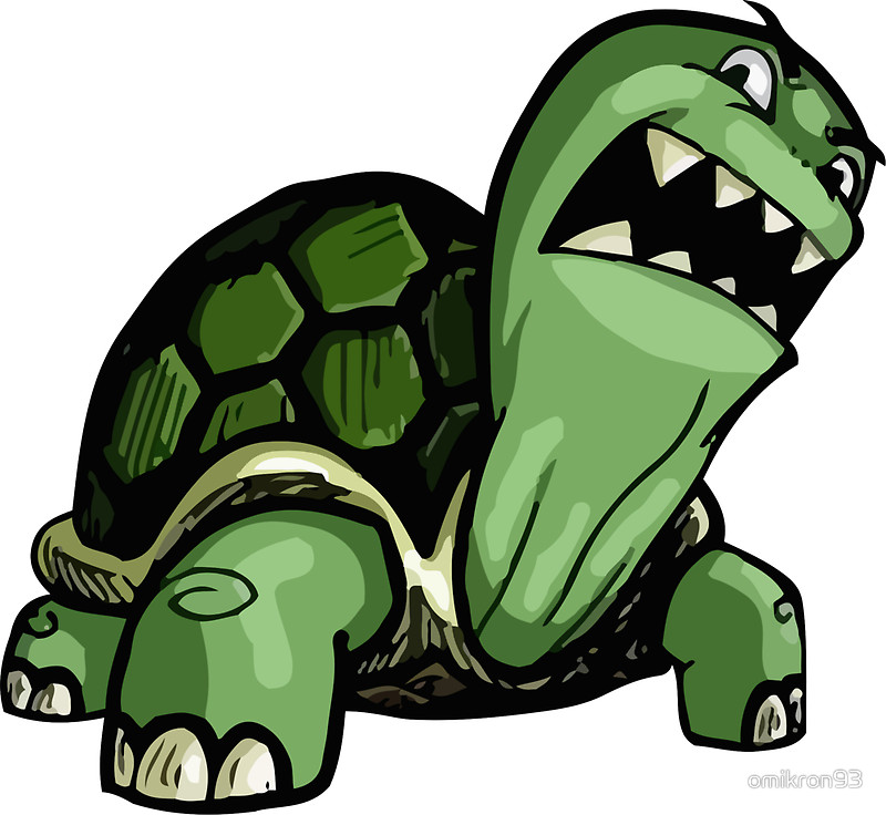 Turtle clipart angry #2