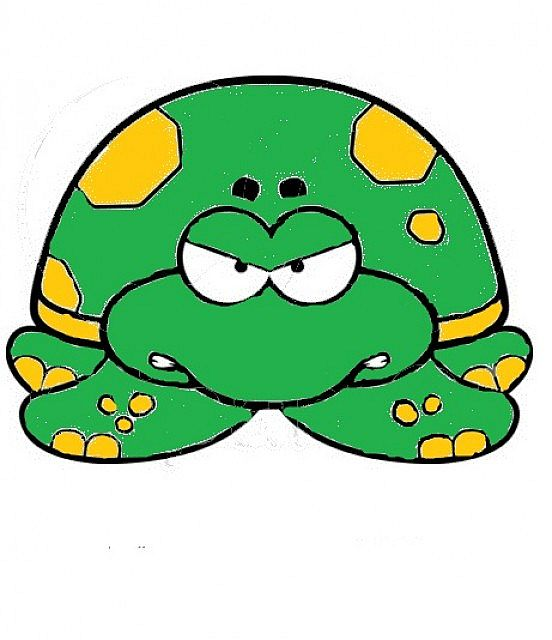 Turtle clipart angry #5