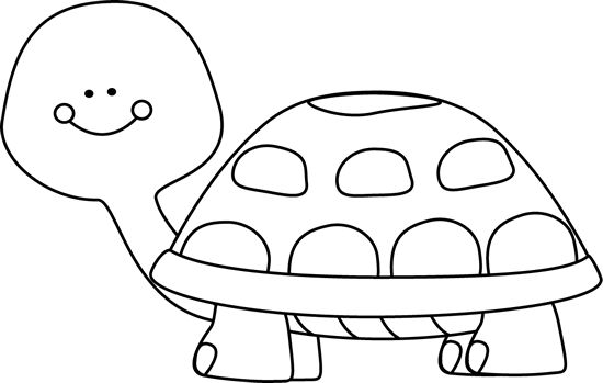Tortoise clipart black and white #12