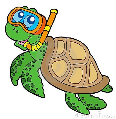 Sea Turtle clipart turtle swimming #8