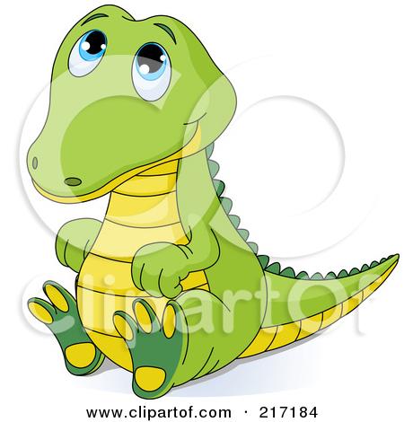 Crocodile clipart chibi Sitting Cute Prints Art Looking