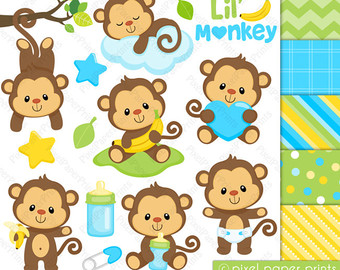 Turtle clipart baby monkey #15