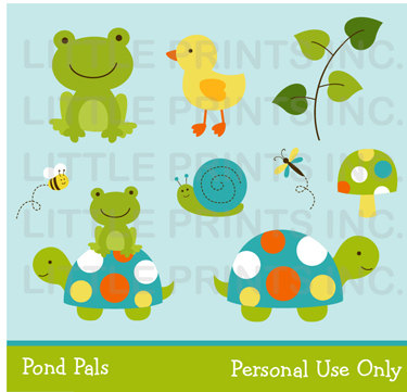 Turtle clipart baby shower & Pond Turtle PERSONAL Cute